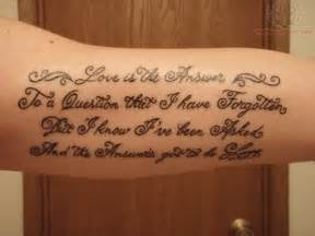 lettering for arm