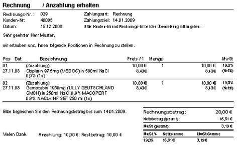 steribase handbuch rechnungsverwaltung rechnungen
