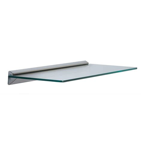 glass shelf knape vogt 8 in x 24 in white standards and brackets