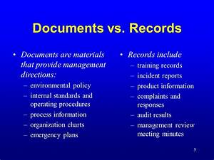 documentation and document control ppt video online download With documents 5 vs