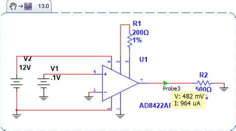 Instrumentation Amplifier Troubles Multisim