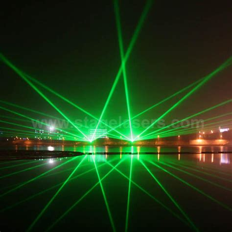 8w 30w single green outdoor landmarks laser lights bomgoo