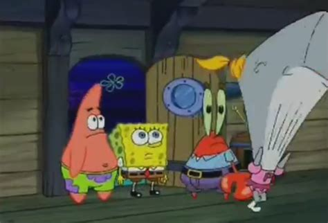 embarrassing picture of spongebob at the christmas party
