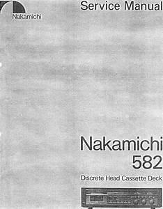 Nakamichi 582 Original Service Manual