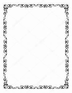 decorative frame corner vignette letter page size With letter size frame