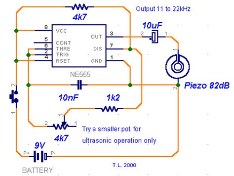 How Build Ultrasonic Dog Whistle Circuit Diagram