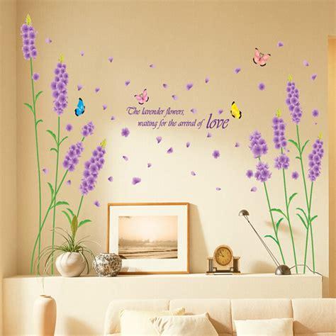 sticker mural fleur autocollant romantique