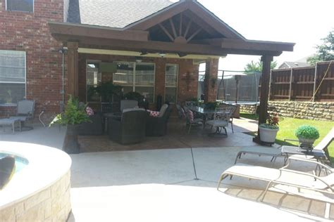 On The Patio by Patio Cover Installation Fence Max