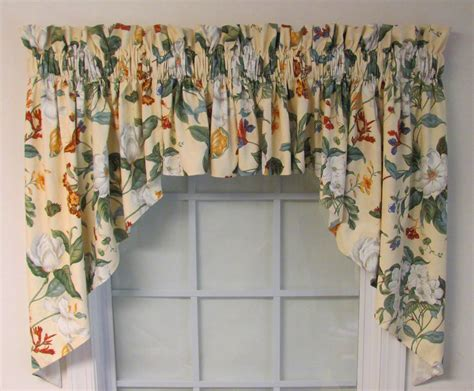 garden images parchment lined swag thecurtainshop