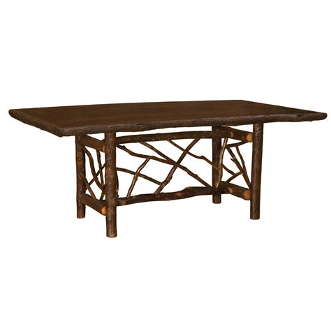 6 Foot Dining Table by Hickory Rectangle Twig Log Dining Table 6 Foot