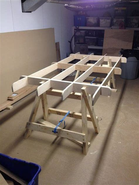 knockdown plywood sawhorse plans woodworking projects