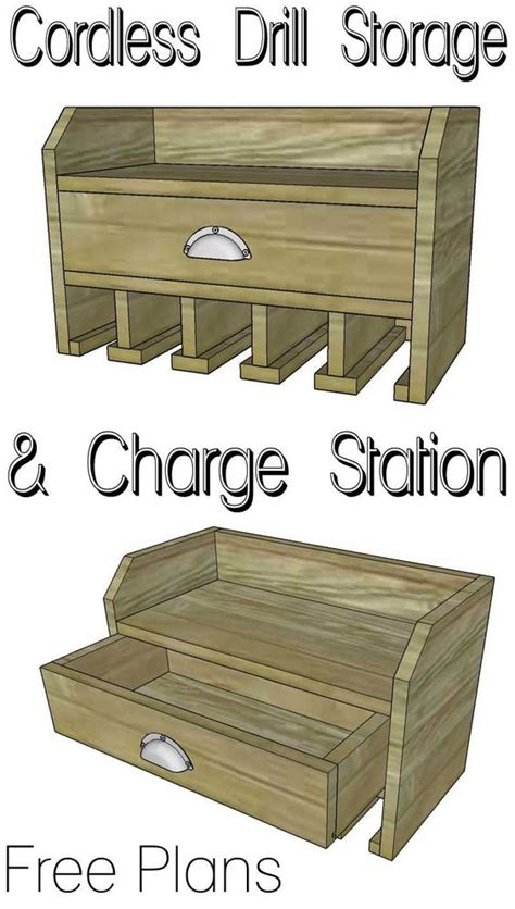 cordless drill storage charging station craftsman