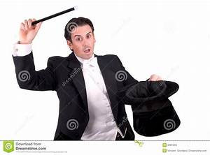 Magician Holding A Magic Wand Stock Photo - Image of ...