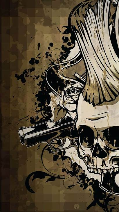Skull Android Wallpapers Guns Punisher 1080 Parede