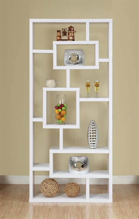 White Open Bookcase by Furniture Of America Mateo Open Back Bookcase