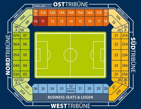 sitzplan stadionplan der dkb arena  rostock sitzplan