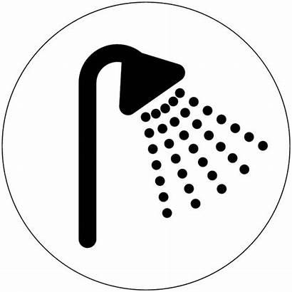 Shower Symbol Washroom Signs Economy Barrier