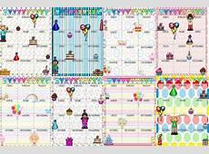 Estupendos y fantásticos diseños de calendarios para los