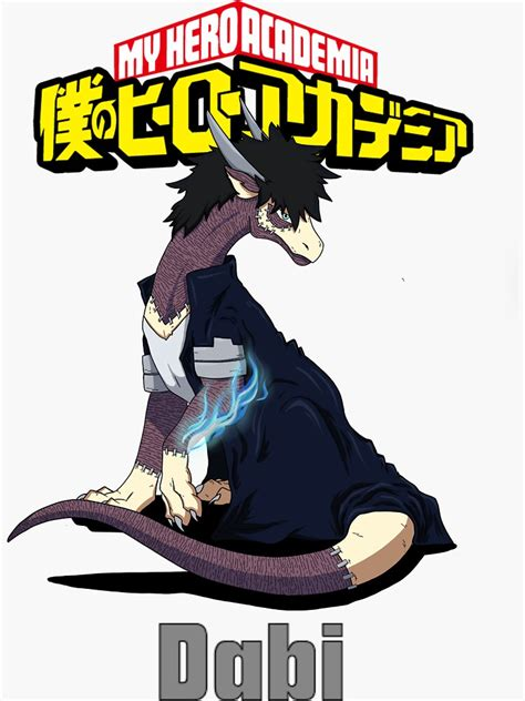 dragonised dabi sticker by dirtypawsaus redbubble