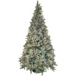 general foam 9 ft pre lit siberian frosted pine artificial christmas tree with clear lights and