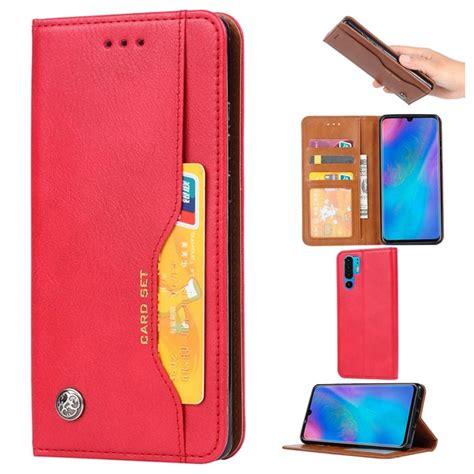 card set huawei p pro wallet case red