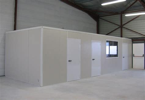 cloisons bureau en panneaux industriels