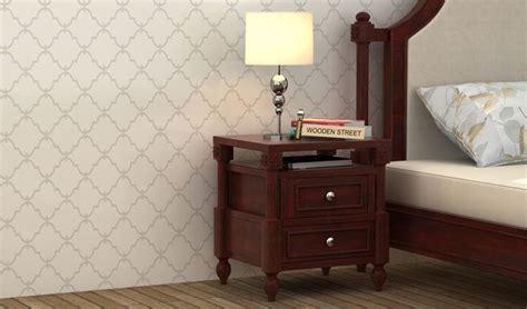 buy ventur bedside table mahogany finish   india