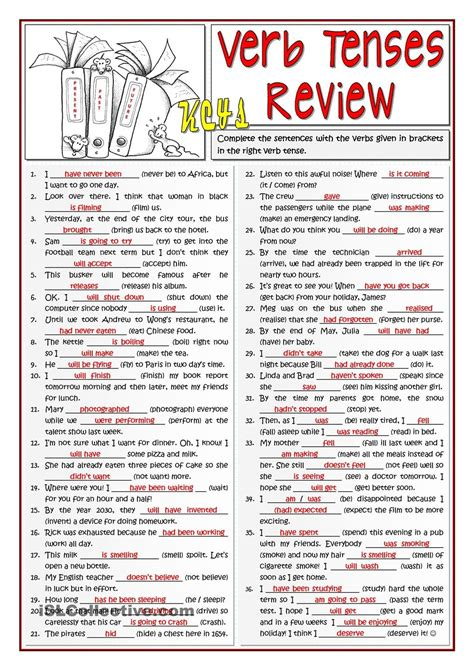 B1 Verb Tenses Review  Verb  Pinterest Idiomas