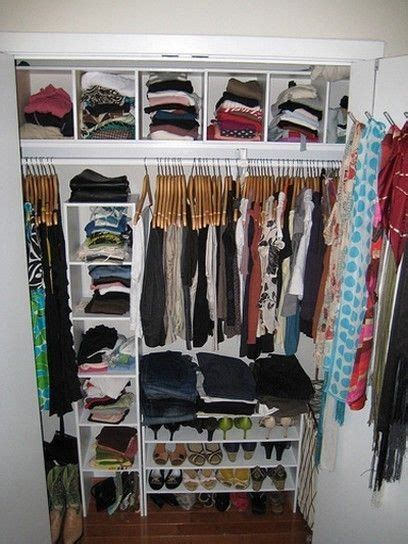 Closet Organization Ideas For Apartments by Realistic Closet Idea For A College Apartment Via