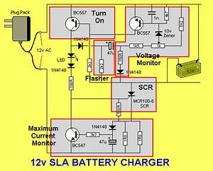 Electronic Circuits   Battery Charger For 12v Sla