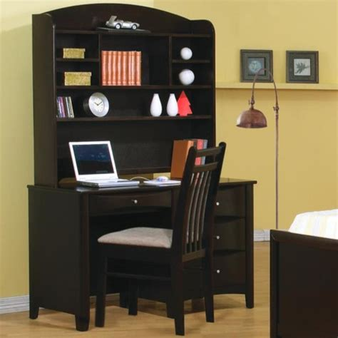 youth desk with hutch coaster phoenix single pedestal youth computer desk with