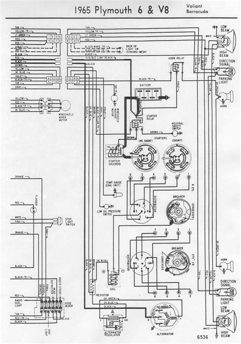 auto wiring diagram  plymouth valiant