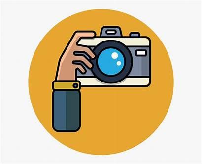 Camera Cartoon Clipart Clip Kamera Transparent Person