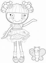Coloring Rag Doll Lalaloopsy Getcolorings Printable sketch template