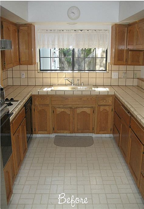 ideas for updating kitchen cabinets before after carolyn 39 s quot yucky quot 1980s kitchen hooked