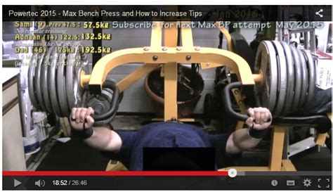 How To Increase Max Bench Powertec Max Bench Press And How