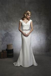 this soft trumpet style has a vneck draped in silk dupion With justin alexander silk wedding dress