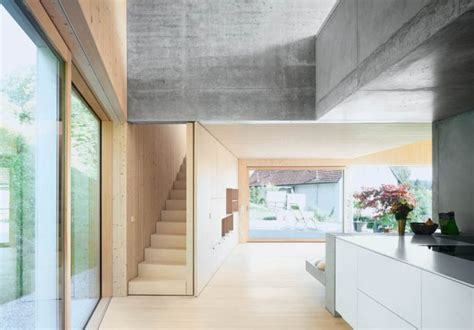 Moderne Häuser Holz Beton by Lebenswerk Haus Am Hang I Fabian Evers Und Wezel Architektur
