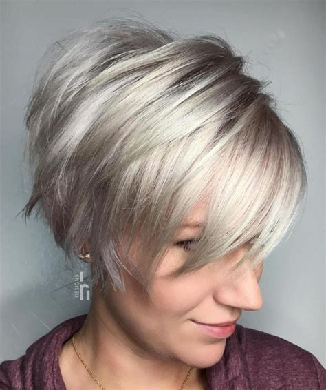 Best Short Hair Women Style 2017/2018 : Long Choppy Silver