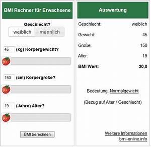 Formel Grundumsatz Berechnen : bmi rechner body mass index bmi berechnen ~ Themetempest.com Abrechnung