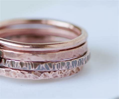 Solid Copper Stacking Ring Hammered Spacer Ring Set. Genuine Engagement Rings. Girl 2017 Rings. Iridescent Wedding Rings. Edwardian Style Engagement Rings. Heart Shape Design Wedding Rings. Real Hand Rings. Unique Colored Engagement Engagement Rings. Non Wedding Rings