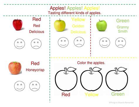 apple tasting in preschool 287 | Apple Tasting Page page 001
