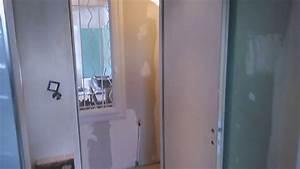 renovation salle de bain couloir et chambre youtube With salle de bain couloir