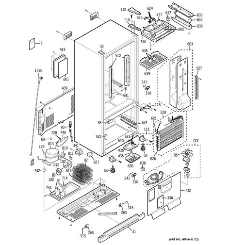 ge model pdsscparss bottom mount refrigerator genuine parts