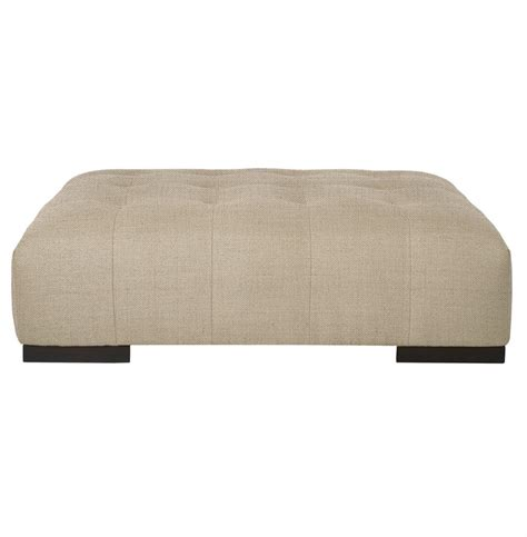 rectangular ottoman coffee table cisco brothers arden modern classic tufted beige linen