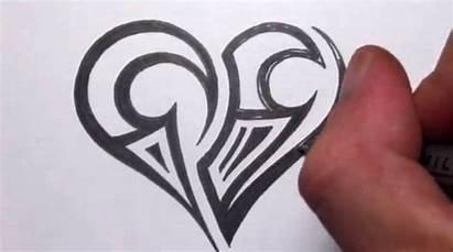 Heart Tribal Easy Designs Drawings Tattoo Maori