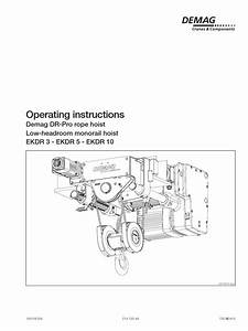 Operating Instructions The Company Demag Cranes Components