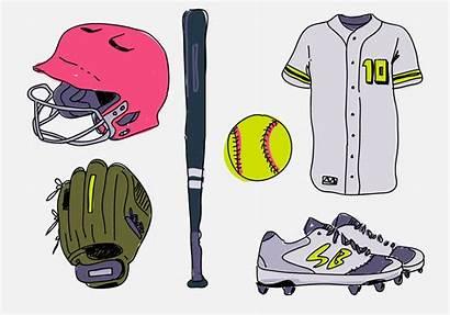 Softball Vector Stuff Pack Starter Drawn Hand