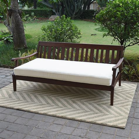 daybed settee alston wood outdoor sofa daybed day bed with white cushion