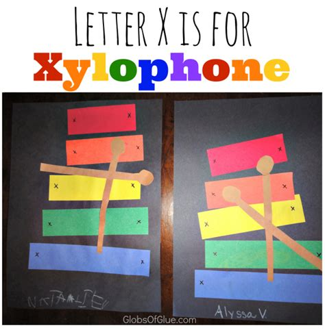 show and tell letter x letter x craft x is for xylophone globs of glue 24846 | x show and tell xylophone craft